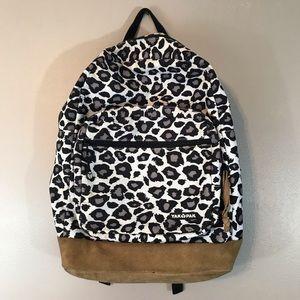 Yak Pak Leopard Print Bookbag
